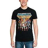 Masters of T-Shirt personaggi classici degli uomini dell'Universo difficoltà neri di cotone - XL
