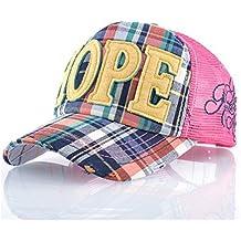 Gorra de béisbol sombreros de sol para las niñas esperanza Applique bordado Malla transpirable Verano Unisex Caps para Camping Viaje Hip-Hop Trucker Hat Don,amarillo