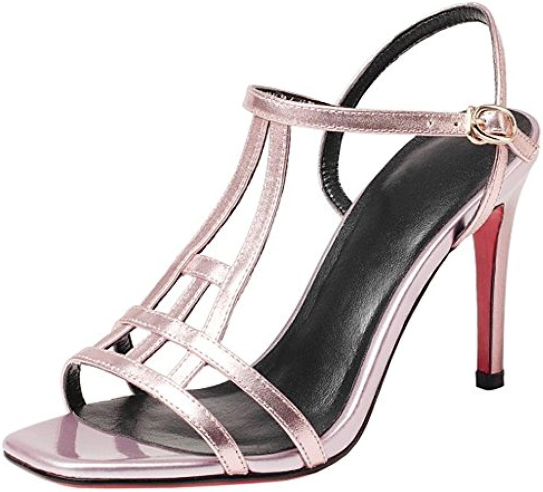 COOLCEPT Donna alla Moda Stiletto Estate Scarpe T Strap Sandali | Moderato Prezzo  | Uomo/Donna Scarpa