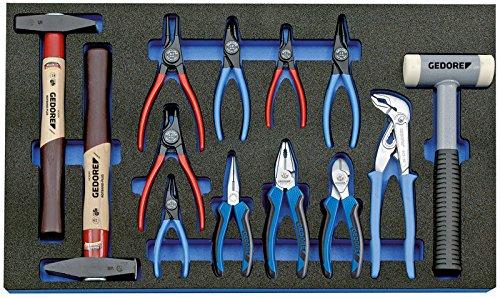 GEDORE Werkzeugsortiment in Check-Tool-Modul, 13-teilig, 1 Stück, 2005 CT4-8000