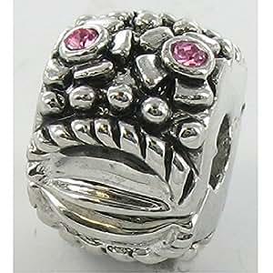 Quiges Mode Bijoux Argent remorque Stopper plaqué pour bracelet à breloques