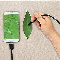 Giantree Android Endoscopio con cámara de 7 mm, video de LIve, 5 metros de cable de longitud Cable adaptador OTG para dispositivo de tableta Android para teléfono