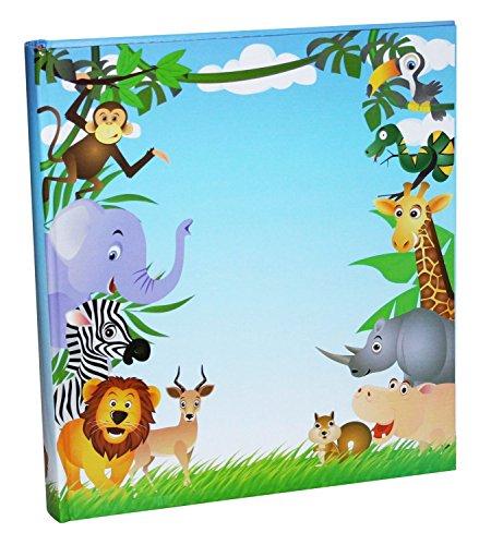 Idena álbum gigante con animales de la jungla, FSC Mix, aproximadamente 31,5 x 33,5 x 5 cm, 50 páginas con pergamino