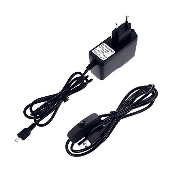 5182URAcysL. SS600  - Zacro 5-EN-1 Kit para Raspberry Pi 3 y 2 , Caja de 9 Capas de Refrigeración + Mini Fan con 4 Tornillos+ USB Cable Encendido + 3 Disipador de calor + USB Cable Cargador