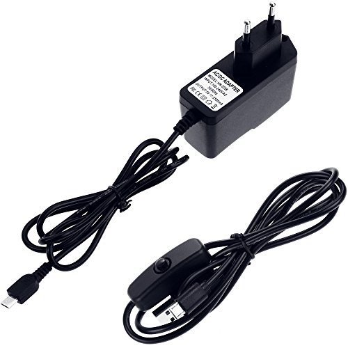 5182URAcysL - Zacro 5-EN-1 Kit para Raspberry Pi 3 y 2, Caja de 9 Capas de Refrigeración + Mini Fan con 4 Tornillos, USB Cable Encendido, 3 Disipador de calor, USB Cable Cargador