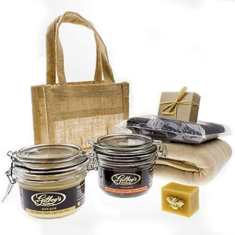 Beeswax Furniture Polishing Kit (2 Jars) (Light & Medium)