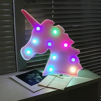Decoration Licorne Aizesi lampe Led BleuLampe lFc1JTK
