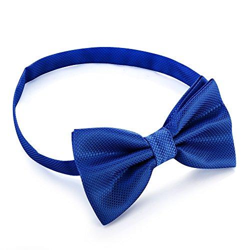 PhoneStar edle Herren Fliege bereits gebunden [schöne Struktur] individuell verstellbar für Anzüge und Business Hemden in blau
