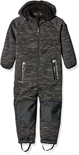 NAME IT Jungen Schneeanzug Nitbeta M Teddy Softshe Suit Bla FO 316, Schwarz (Black), 80