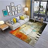 Alfombra de alfombras abstractas de Tinta China en 3D Alfombra del área de Estilo de Europa del Hotel Roma