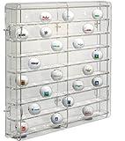 SORA vitrine de balle de golf acrylique, avec panneau arrière transparent