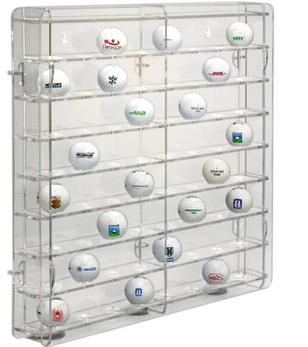SORA Acrylic Golf Ball Display Case with Transparent back-panel