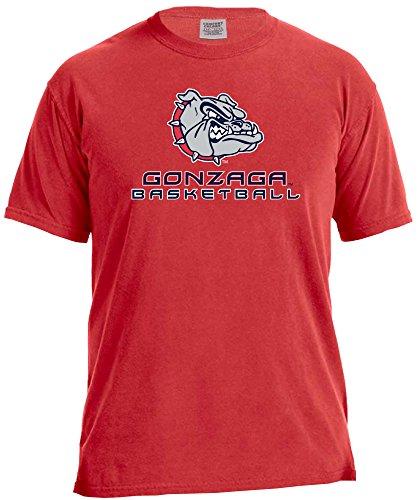 Image One NCAA Gonzaga Bulldogs Basketball Energy, kurzärmlig, bequem, Größe M, Rot Gonzaga University Basketball