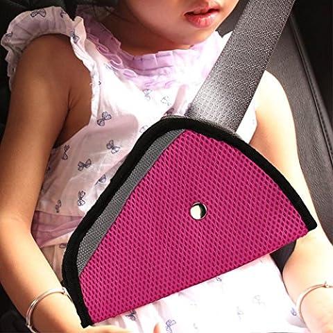 Hunpta bébé enfants Sécurité Auto Coque Sangle Ajusteur de protection de ceinture de sécurité Clip PK, rose
