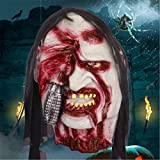 Halloween Party Dress Up Props Ghost Face Bad Devil Mask Horror Scary Toys , rotten face -a1
