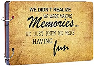 Studio Shubham Memories Wooden Photo Album(26cmx16cmx4cm)