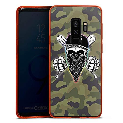 DeinDesign Slim Case kompatibel mit Samsung Galaxy S9 Plus Silikon Hülle Ultra Dünn Schutzhülle Montanablack Fan Article Merchandise Fanartikel Merchandise Orange Case Fan