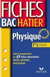 Fiches Bac Hatier : Physique, terminale S - Enseignements obligatoires et de spécialité