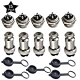 5 x 5 A 16 mm 4 Pin Buchse Aviation Stecker Adapter + 5 x 5 A 16 mm 4 Pin Stecker Aviation Stecker Adapter + 5 x Gummi Displayschutzfolie Gap, von ltsstoreuk
