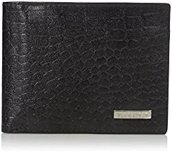 Van Heusen Mens Mens Croc-embossed Leather Wallet