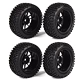 RC 1:10 Wheel Rim Rubber Tyre Tires for ...