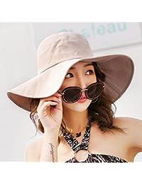 d2f226853 LOF-fei Mujer verano sombrero para el sol algodón de cuchara de ala ancha  exterior
