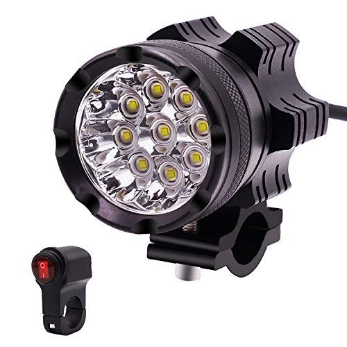 12v Headlamp,9-Lampe Bead Waterproof 45W High Power 5500LM Led Motorcycle Scheinwerfer Motorrad-Scheinwerferlampe Licht für Motorräder Autos LKW mit -