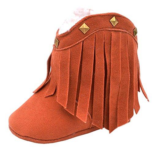 Fire Frog  Baby Cowgirl Boots, Baby Mädchen Krabbelschuhe & Puschen, braun - braun - Größe: 12-18 - Mädchen Cowgirl-stiefel 13 Größe