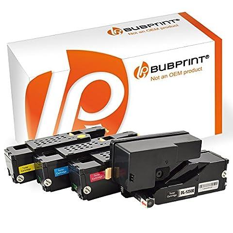 Bubprint 4er Set Toner Kompatibel Für Dell 1250 1250C 1250 C 1350CNW 1350 CNW 1355CNW 1760NW 1765NFW 1765NF Multipack Black Cyan Magenta Yellow