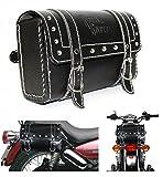 #8: Generic (unbranded) Square Saddle Bag for Royal Enfield (Black, M)