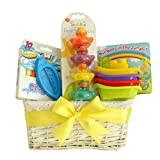 Baby bagno giocattolo–Unisex–Cestino regalo per neonato, baby shower regali/nuovo arrivo regalo/premaman/regalo/Cesto Unisex da bambino battesimo regalo/spedizione veloce - Pitter Patter Baby Gifts - amazon.it