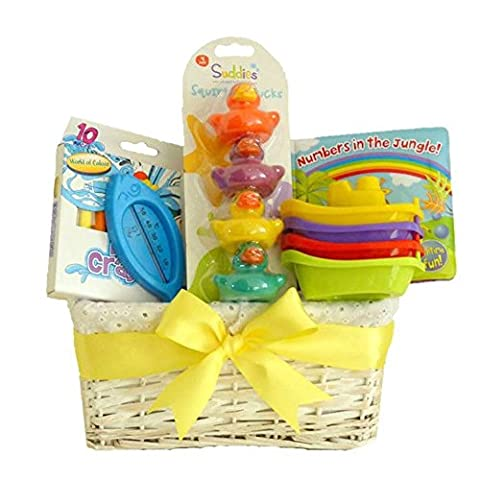Baby Funtime Bathtime Unisex Baby Gift Basket / Baby Hamper / Baby Shower Gifts / New Arrival Gift / Maternity Gift / Unisex Baby Hamper / Baby Bath Toys / FAST
