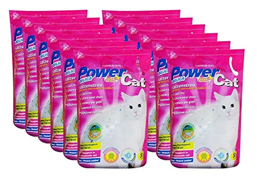 katzeninfo24.de 12 x 5 l = 60 L Power Cat Magic Silikat Katzenstreu Powercat