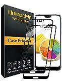 UniqueMe [2 Pezzi Nokia 7.1 Pellicola Protettiva, [Copertura Completa] Proteggi Schermo in Vetro temperato con Sostituzione a Vita - Nero