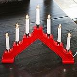 Holz-Schwibbogen / Lichterbogen / Holz-Leuchter * verschiedene Farben wählbar * (rot)