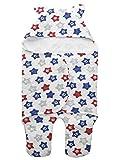 Aikexin Babydecke Swaddle Baumwolle Neugeborenes Wrap Decke Weiche Puckdecke Pucktuch mit Kapuze Kinderwagen Wickeldecke Fußsack