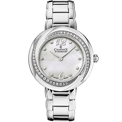 Charmex Women's Deauville 34mm Steel Bracelet & Case Quartz Analog Watch 6375