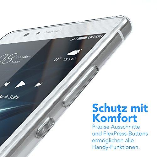 Huawei P9 Lite Hülle, EAZY CASE Ultra Slim TPU Handyhülle - dünne transparente Schutzhülle aus Silikon Transparent