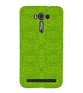 For Asus Zenfone 2 Laser ZE500KL (5 INCHES) floral pattern ( floral pattern, pattern, green pattern ) Printed Designer Back Case Cover By CHAPLOOS