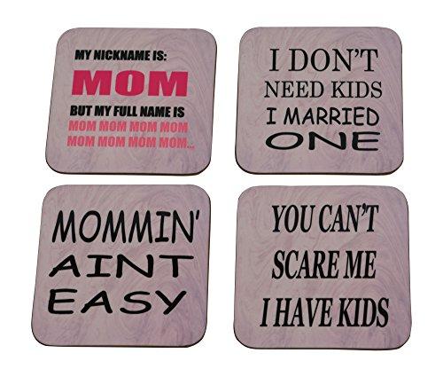 MOM Drink Untersetzer Set Geschenk für Mutter 's Geschenk Day Home Kitchen Bar Barartikel Funny Pink