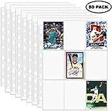 EOOUT Lot de 80 pochettes pour cartes à collectionner, 900 poches, album de rangement pour cartes Pokémon, Top Trumps, cartes de baseball, cartes de sport, cartes de jeu, cartes de visite