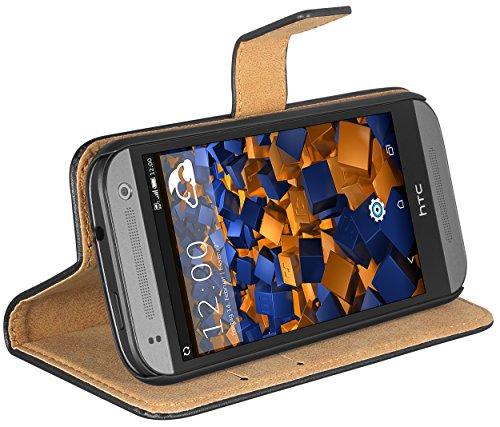 mumbi Ledertasche im Bookstyle für HTC One Mini 2 Tasche