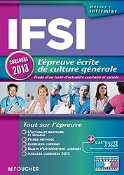 IFSI l'épreuve écrite de culture générale concours 2013