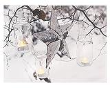 Leinwandbild mit LED-Beleuchtung 30 x 40 cm Wandbild mit Stern und Windlichter Leuchtbild LED-Bild mit Flackereffekt