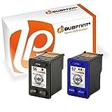 Bubprint  kompatible Druckerpatronen als Ersatz für HP 56 57 für Deskjet 5150 5550 5650 Officejet 4215 5510 Photosmart 7260 7660 7760 7960, 2er-Pack