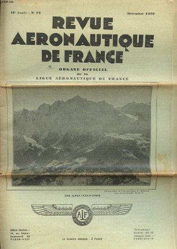 REVUE AERONAUTIQUE DE FRANCE - 19° ANNEE - N°12 par COLLECTIF