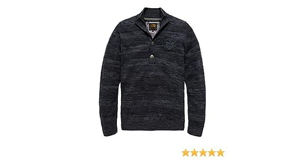 PME Legend Half Button Cotton Melange stilvoller Polopullover für Herren