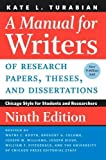 #8: A Manual for Writers of Research Papers, Theses, and Dissertations 9e (Chicago Guides to Writing, Editing, and Publishing)