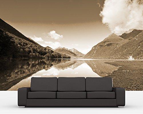 bilderdepot24-selbstklebende-fototapete-lake-gunn-neuseeland-sephia-300x200-cm-direkt-vom-hersteller