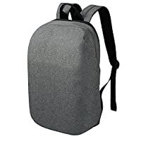 REYLEO Backpack Lightweight Casual Daypack Anti-theft Waterproof Rucksack School Bag for Work, College, Holiday, Leisure - Grey